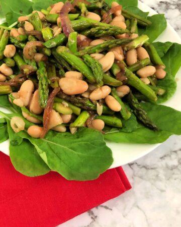 asparagus and cannellini bean salad