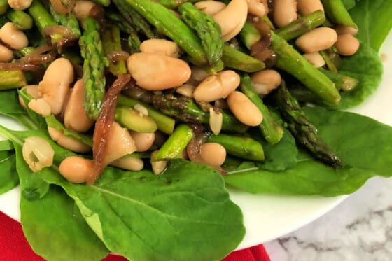 asparagus and cannellini bean salad