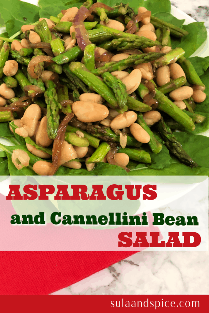 Asparagus and cannellini bean salad pin