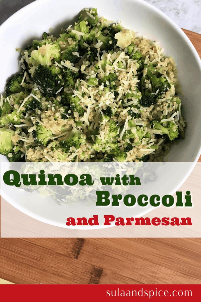 Quinoa with broccoli and Parmesan