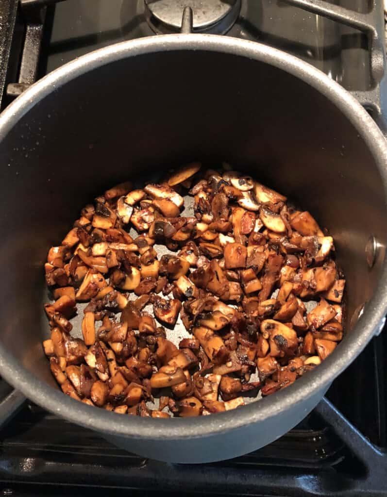 Cooking mushrooms