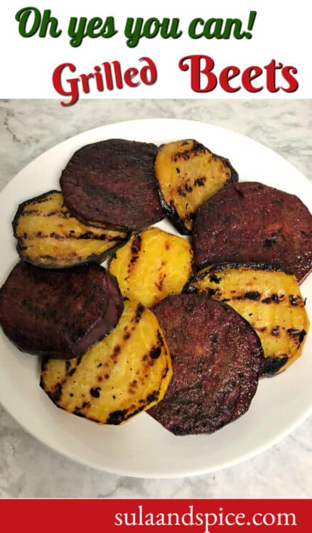 Grilled Beets, roasted beets on grill