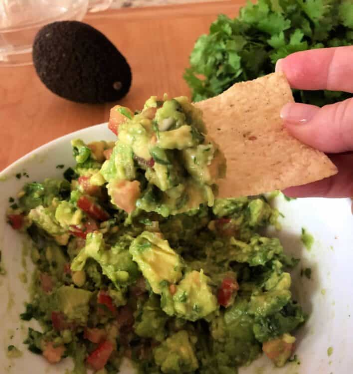 Guacamole with chip