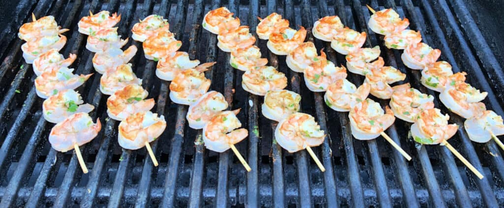 margarita shrimp on skewers ready to grill