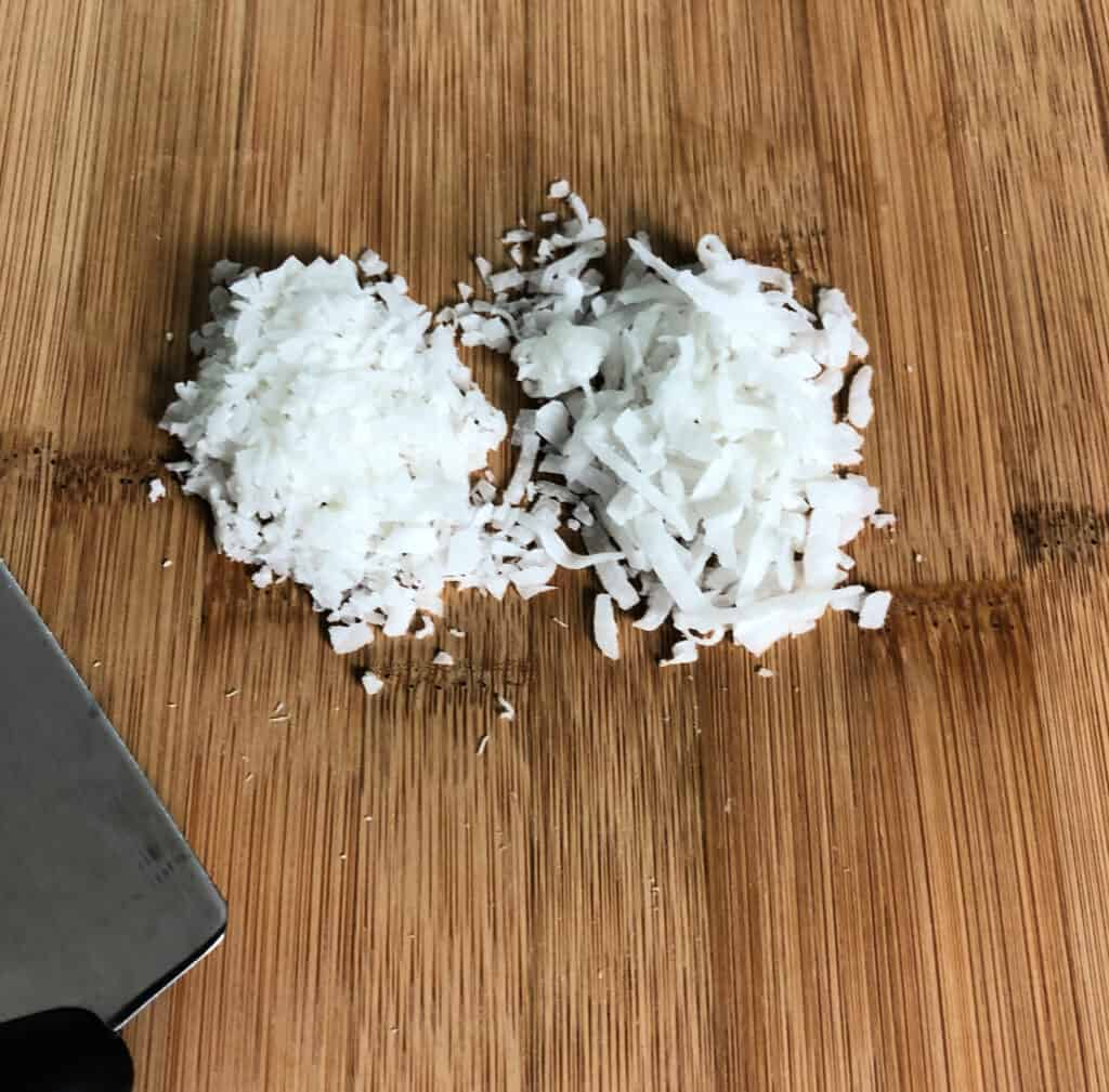Chopped coconut for crust