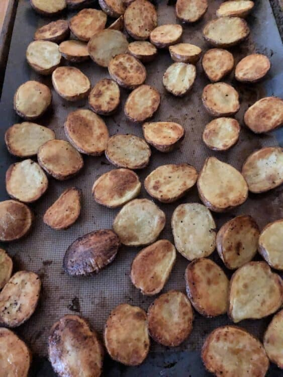 Roasted baby potatoes, red potatoes