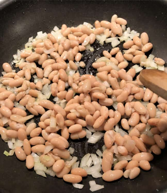 beans and onion