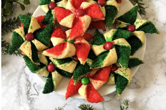 poinsetiia cookies