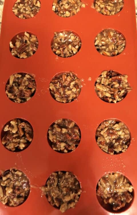 pecan clusters in molds