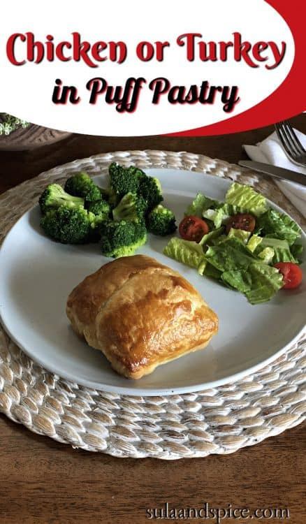 Pin for Chicken or Turkey Puff Pastry
