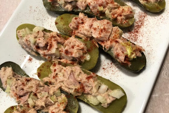 tuna salad boats