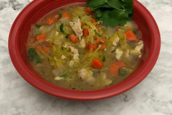 Low Carb Chicken Noodle soup
