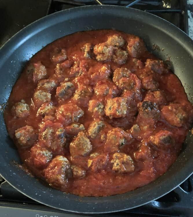 ricotta meatballs in sauce
