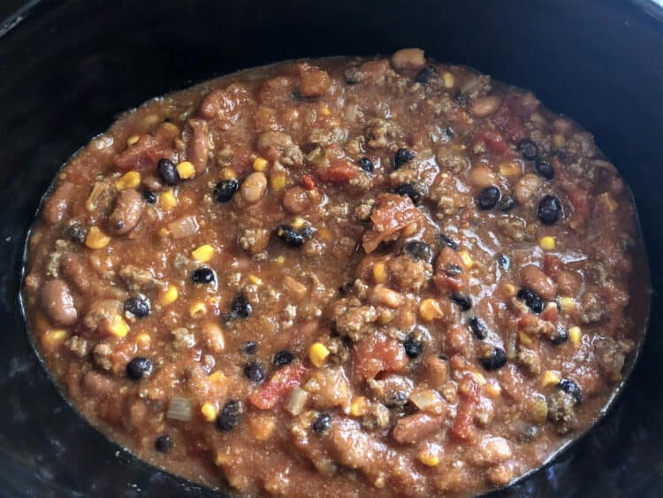 taco chili in crockpot