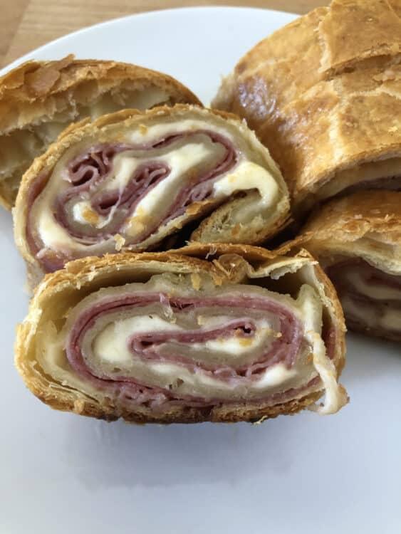 sliced puff pastry stromboli