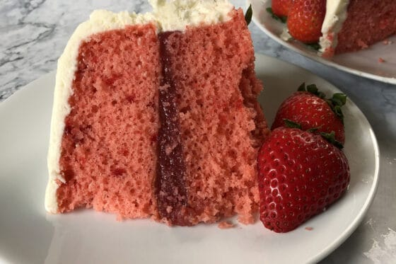 Strawberry Jelly Donut Cake