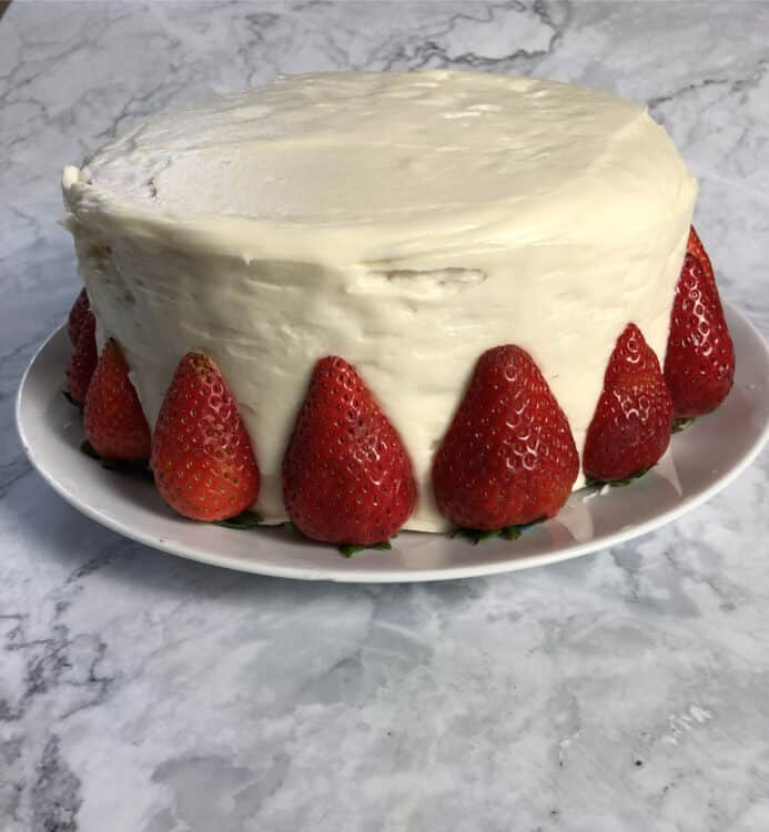 Strawberry cake with cream cheese frosting, Jelly Donut cake
