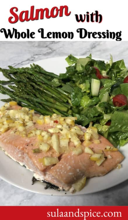 salmon with whole lemon dressing