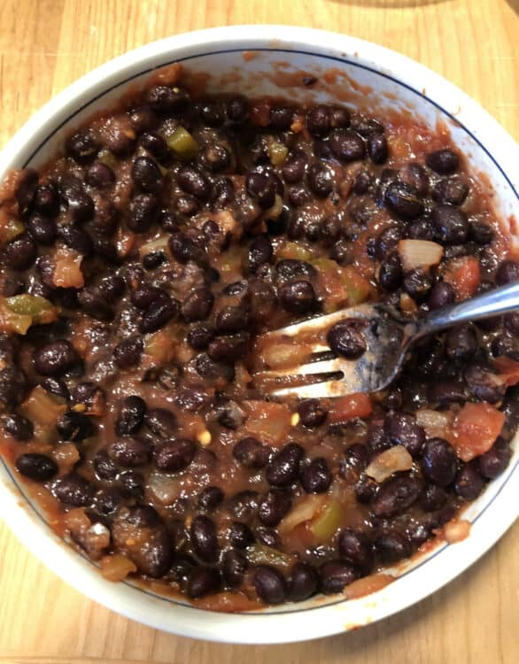 black bean filling