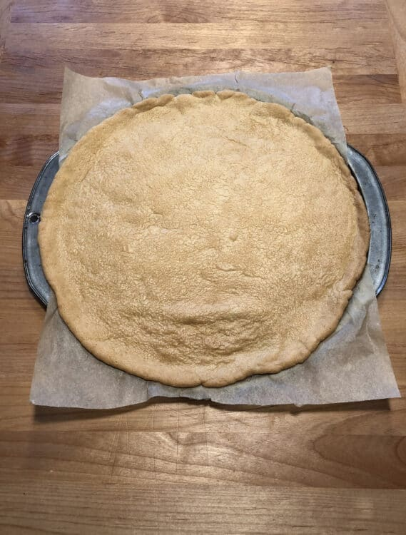 Baked cookie crust