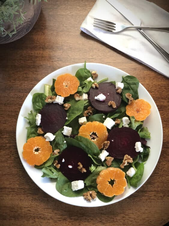 Vegetarian Beet Salad with Goat Cheese