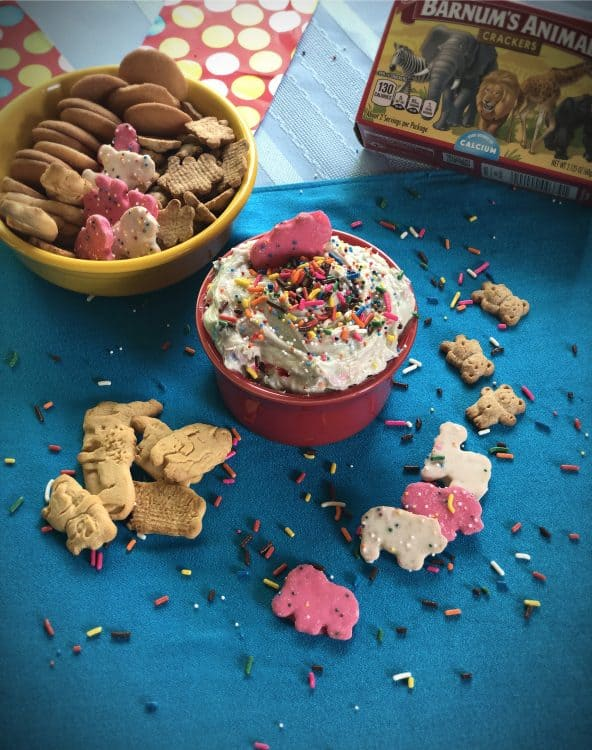 Cake batter dip with cookies