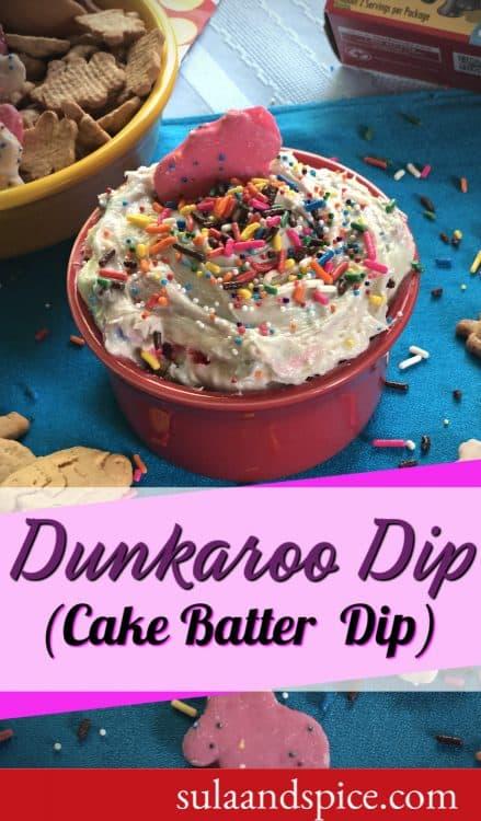 Dunkaroo dip funfetti cake batter dip