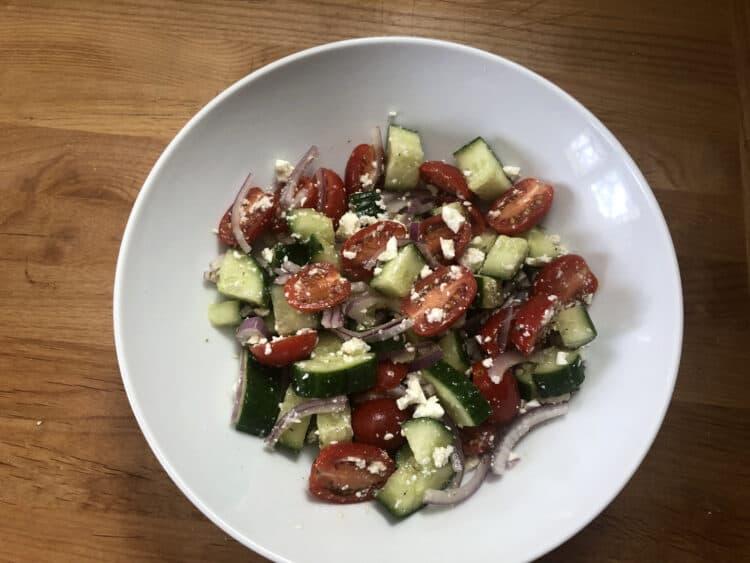 greek cucumber salad, cucumber tomato salad
