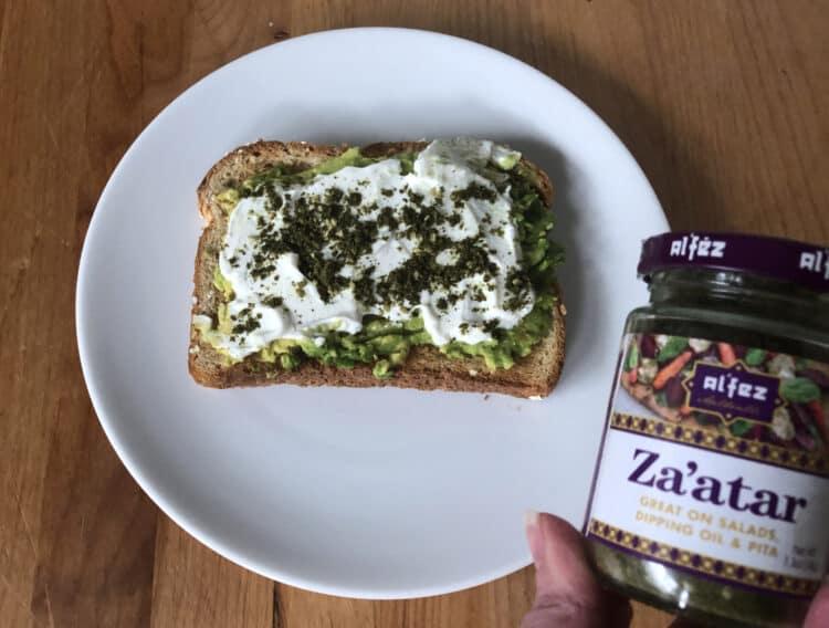 Za'atar on toast