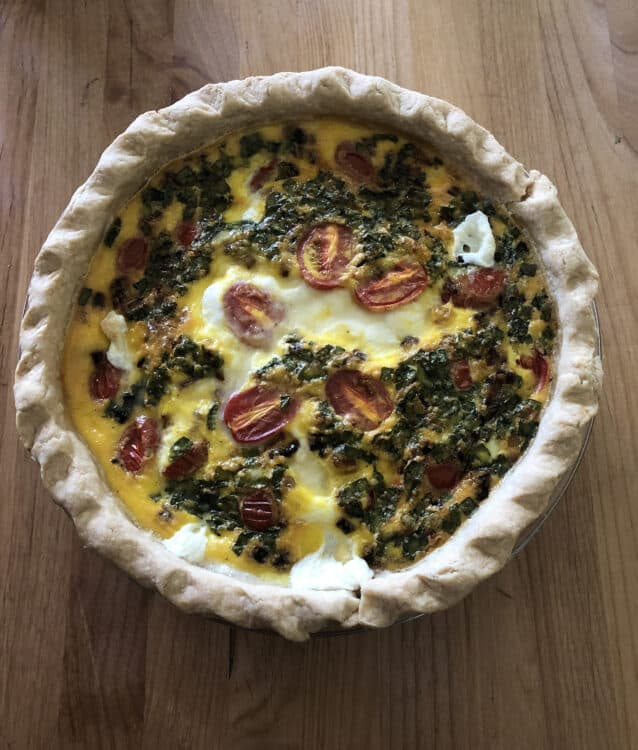 Caprese Quiche Baked