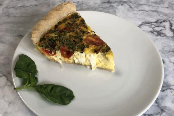 Vegetarian Caprese Quiche