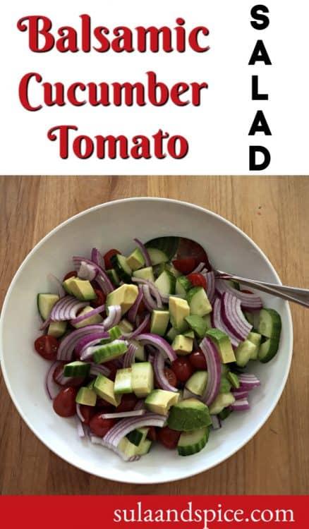Balsamic Cucumber Tomato Salad pin