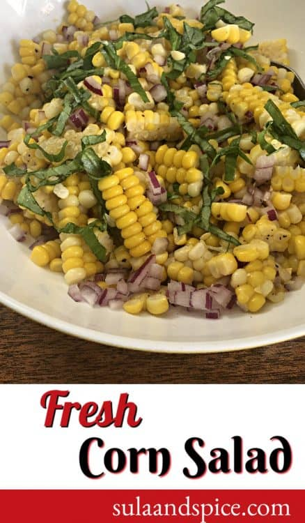 Pin for Fresh Corn Salad