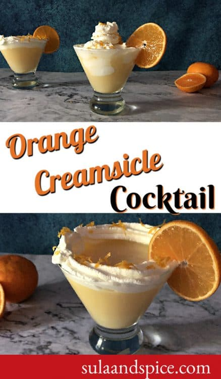 Orange Creamsicle Cocktail Pin