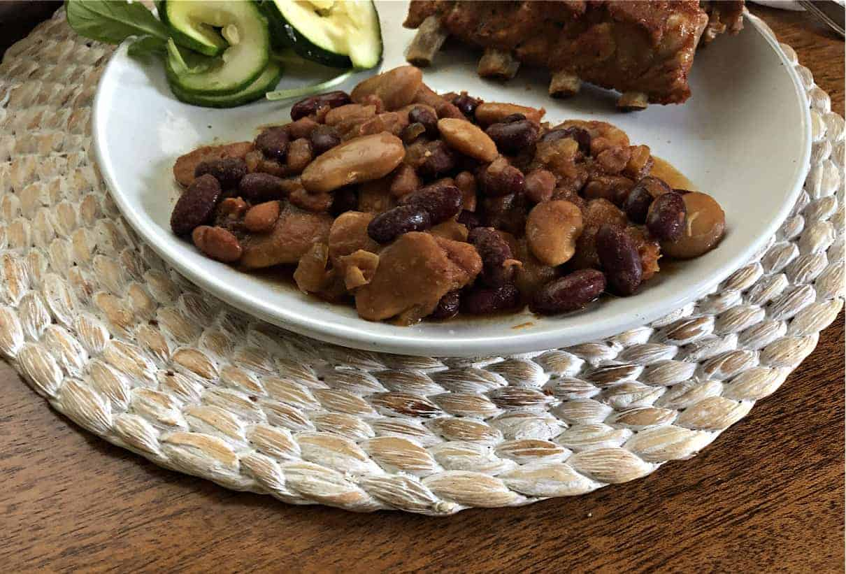 Vegetarina Baked Beans on a plate