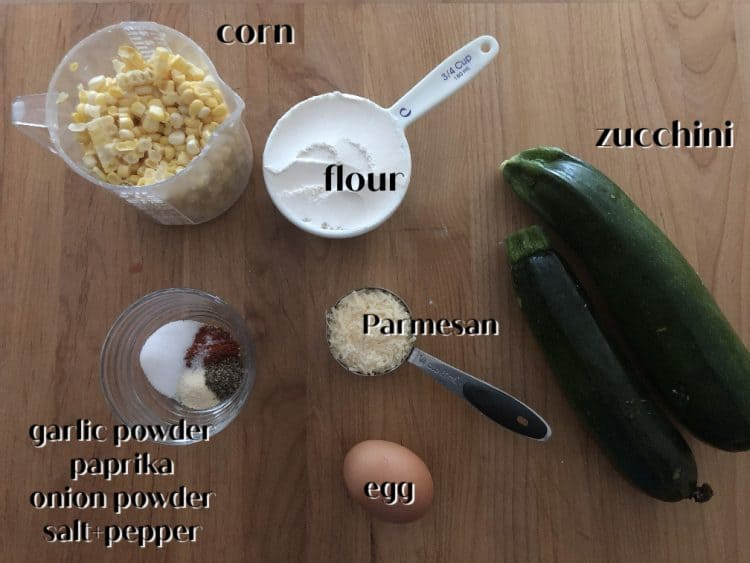 picture of ingredients for fritters