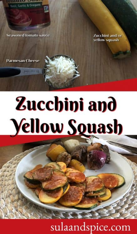 pin for zucchini and yellow squash in the microwve