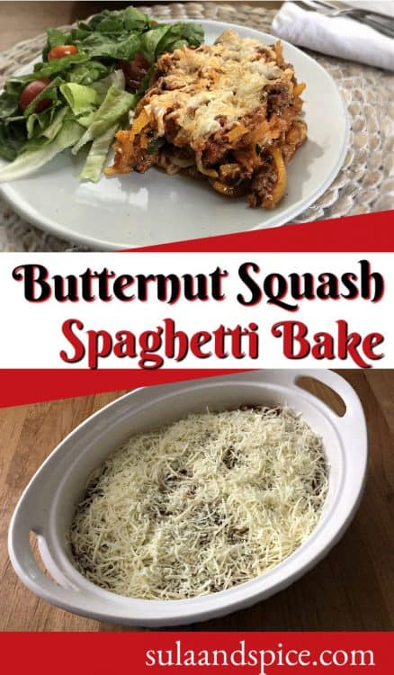 Pin for squash spaghetti bake