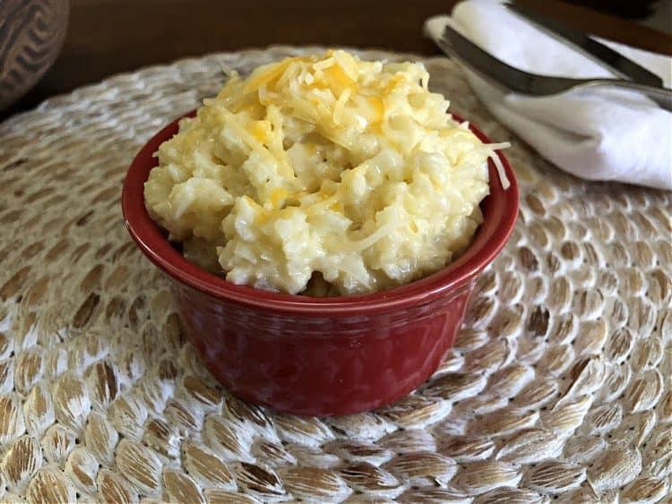 basic cheesy cauliflower rice