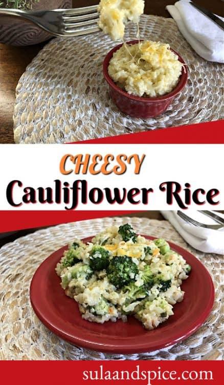 pin for cheesy cauliflower rice