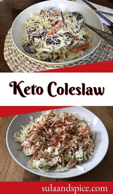 Pin for keto coleslaw