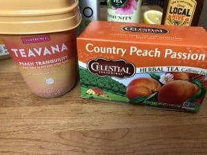 Peach tea alternatives used