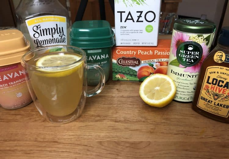 Group of ingredients tried for making the Medicine ball copycat tea