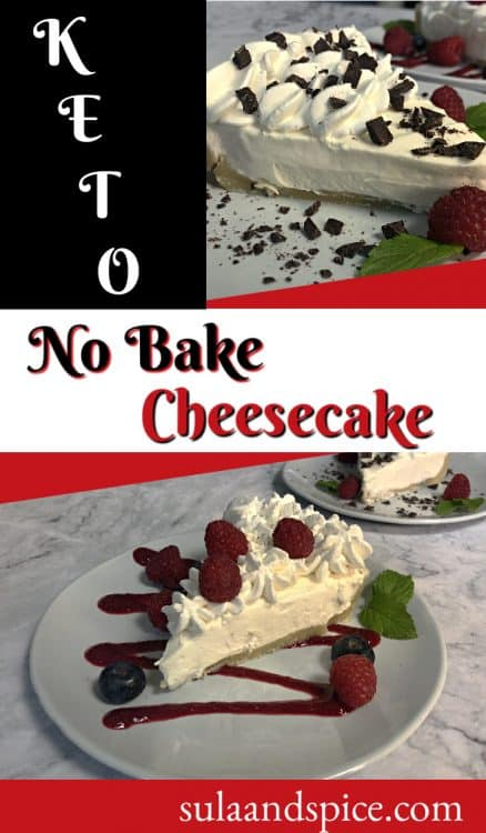 pin for keto no bake cheesecake