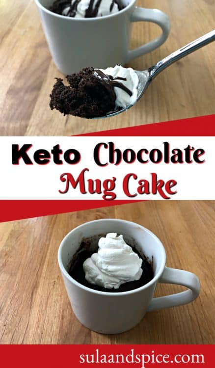 Pin for keto mug cake