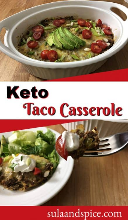 Pin for keto taco casserole