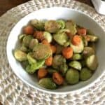 bowl of brussels sprouts and carrots