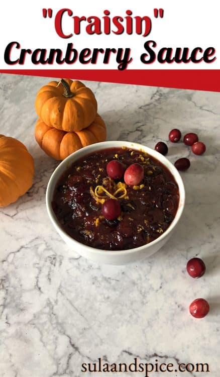 Cranberry Sauce From Dried Cranberries Craisins Sula And Spice