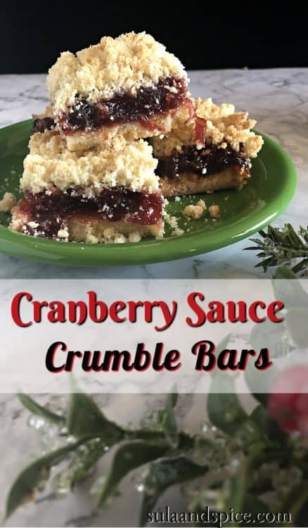 pin fro cranberry sauce crumble bars
