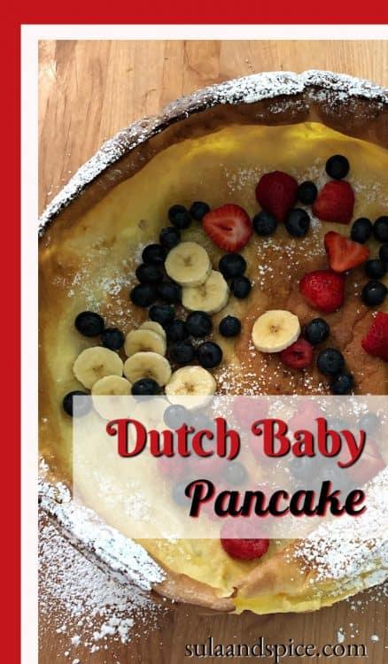 Dutch Baby pancake pin